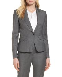 BOSS - Janore Wool Blend Suit Jacket - Lyst