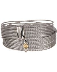 Alor - Twisted Accent Logo Detail Wrap Bracelet - Lyst