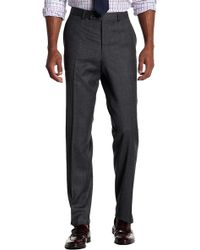 Ted Baker - Jeremy Flat Front Solid Wool Trousers - Lyst