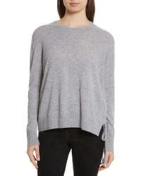 Vince - Side Tie Cashmere Sweater - Lyst