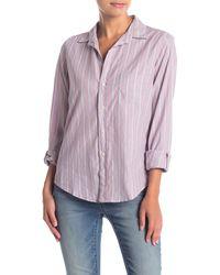 Frank & Eileen Barry Striped Long Sleeve Button Down Shirt - Multicolour