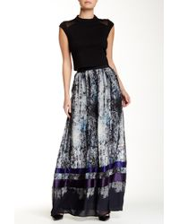 ABS By Allen Schwartz - Printed Maxi Skirt - Lyst