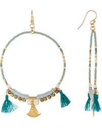 Chan Luu - Beaded Tassel Hoop Earrings - Lyst