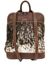 ILI - Genuine Calf Hair Leather Backpack - Lyst