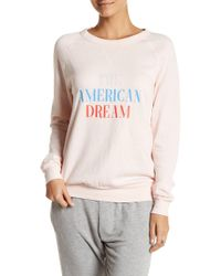 The Laundry Room Graphic Pullover Sweatshirt - Pink
