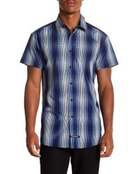 English Laundry - Plaid Ombre Woven Regular Fit Shirt - Lyst