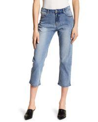 Cheap Monday   Level Mid Rise Comfort Fit Frayed Hem Jeans   Lyst