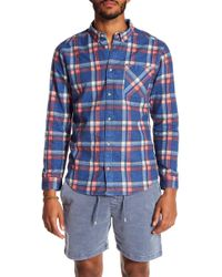 RVCA - Plaid Slim Fit Shirt - Lyst