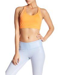 Alo Yoga - Patina Laser Cut Sports Bra - Lyst