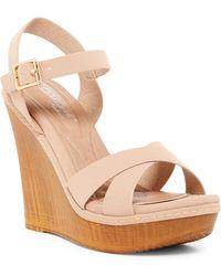 Elegant Footwear - Hazzel Platform Wedge Sandal - Lyst