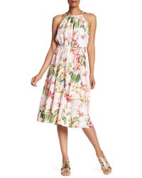 Tommy Bahama - Le Tigre Orchid Midi Silk Dress - Lyst