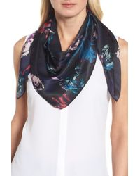 Halogen - (r) Floral Print Silk Scarf - Lyst