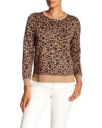 Philosophy Apparel - Jacquard Leopard Sweater (petite) - Lyst
