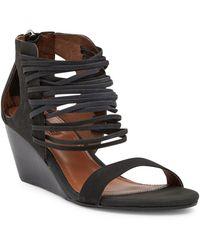 Matiko - Bryn Leather Wedge Sandal - Lyst