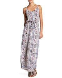 Bobeau - Print Maxi Dress - Lyst
