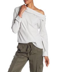Michael Stars - Striped Off-the-shoulder Top - Lyst
