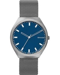 Skagen - Greenen Titanium Mesh Strap Watch, 40mm - Lyst