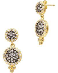 Freida Rothman - Metropolitan Cz Drop Earrings - Lyst