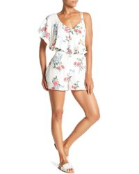 Do+Be Collection - Floral Print Ruffle Romper - Lyst