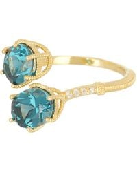 Judith Ripka - Flora Double Stone Bypass Ring - Lyst