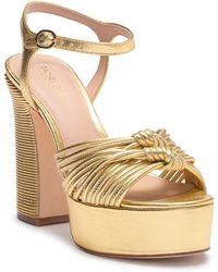 Rachel Zoe - Avery Metallic Nappa Platform Sandal - Lyst