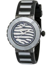 Swarovski - Women's New Octea Crystal Accented Zebra Sports Watch, 39mm - Lyst
