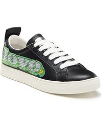 Marc Jacobs - Love Embellished Leather Sneaker - Lyst