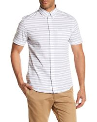 Jack Spade - Caufield Stripe Short Sleeve Shirt - Lyst