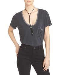 Free People Rising Sun Tee - Black