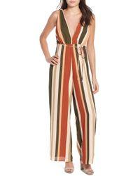 4si3nna - Stripe Deep V Jumpsuit - Lyst