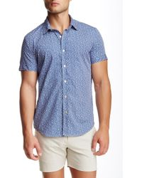 Parke & Ronen - Biscayne Printed Short Sleeve Slim Fit Shirt - Lyst