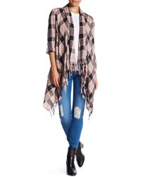 Billabong - Live It Up Plaid Cardigan - Lyst
