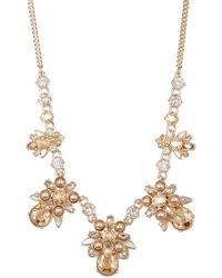 Givenchy - Faux Pearl Crystal Cluster Frontal Necklace - Lyst
