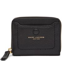 b1a7fce2d8a6 Marc Jacobs Empire City Compact Leather Wallet in Gray - Lyst