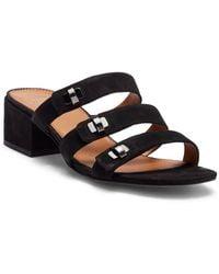Franco Sarto - Arabesque Strappy Slide Leather Sandal - Lyst