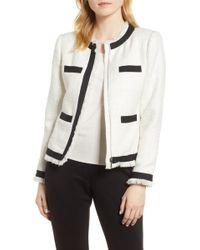 Cece by Cynthia Steffe - Ribbon Trim Tweed Jacket - Lyst