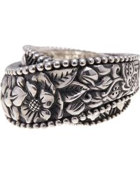 Stephen Dweck - Sterling Silver Engraved Floral Wrap Ring - Size 8 - Lyst