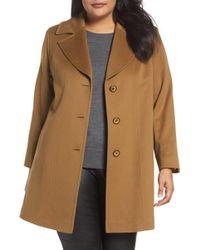 Fleurette - Wool Walking Coat (plus Size) - Lyst