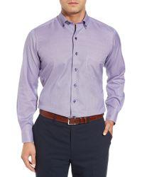 David Donahue - Regular Fit Plaid Sport Shirt - Lyst