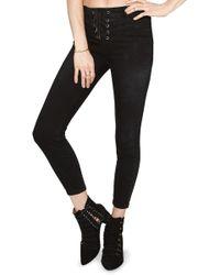 Amuse Society - Soho Lace-up Skinny Jeans - Lyst