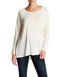 Caslon - Long Sleeve Hi-lo Tee (regular & Petite) - Lyst