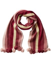 BCBGMAXAZRIA - Party Poms Striped Muffler - Lyst
