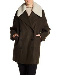 Andrew Marc - Porter Faux Shearling Trim Collar Jacket - Lyst