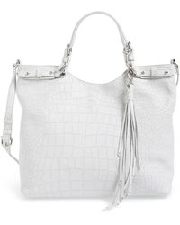 Etienne Aigner - Charlotte Convertible Croc Embossed Tote - Lyst