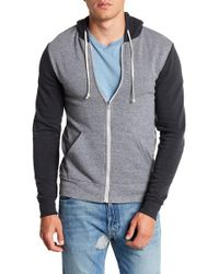 Alternative Apparel | Rocky Colorblock Zip Hoodie | Lyst