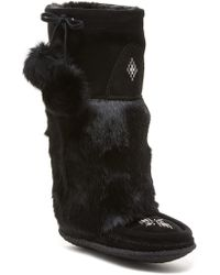 Manitobah Mukluks - Classic Tall Suede Genuine Rabbit Fur & Sheepskin Footbed Mukluk Crepe - Lyst