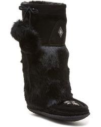Manitobah Mukluks - Classic Tall Suede Genuine Rabbit Fur & Sheepskin Footbed Mukluk Crepe - Lyst