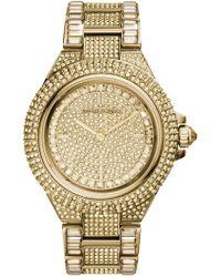 MICHAEL Michael Kors - Women's Camille Crystal Bracelet Watch, 43mm - Lyst
