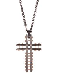 Steve Madden - Cross Rolo Chain Necklace - Lyst