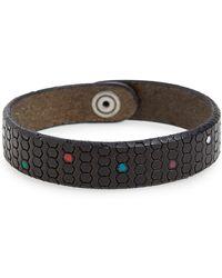 Orciani - Pois Leather Bracelet - Lyst